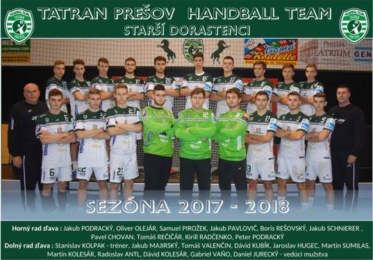 Tatran Prešov - starší dorastenci 2017