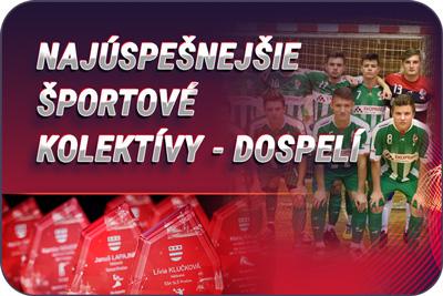 Športovec Prešova 2019 - športové kolektívy dospelí