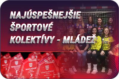 Športovec Prešova 2019 - športové kolektívy mládež